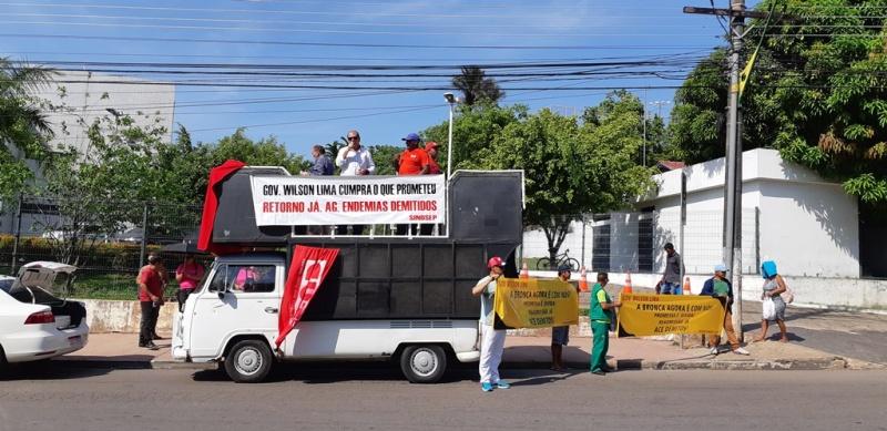Protesto dos agentes de endemias demitidos em 2015 – 18.10.19